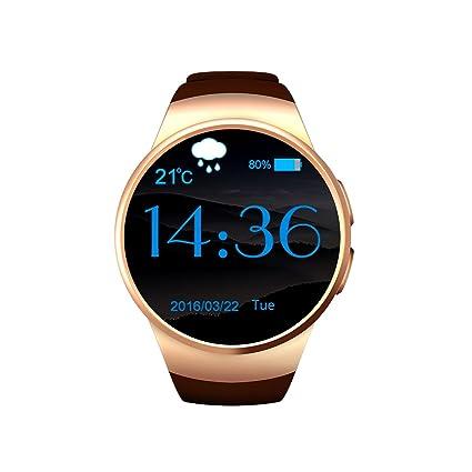 Reloj Del Teléfono En Salud Y Cuidado Personal Smartwatch Dorado Mujer Deporte Esfera Redonda Memoria De