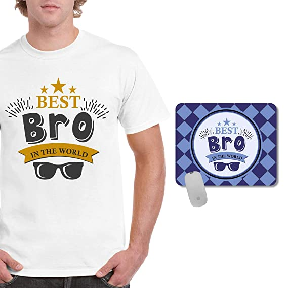 FUNKY STORE Birthday Gifts For Brother Combo Best Bro Theam Printed Dri Fit Mens