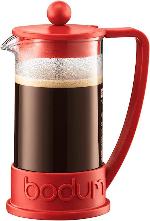 Bodum Brazil Cafetera émbolo, Rojo, Centimeters: Amazon.es: Hogar