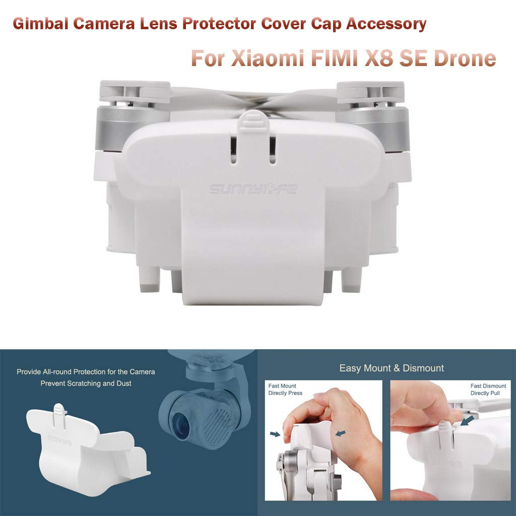 1KTon Gimbal Camera Lens Protector Cover Cap Accessory For Xiaomi FIMI X8 SE Drone by 1KTon
