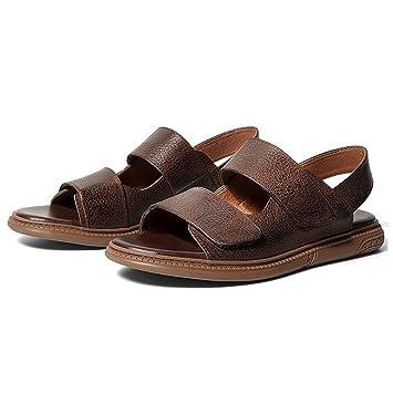 GAOLIXIA Herren Leder Driving Shoes Sommer Offene Zehe Roman Sandalen Mode  Jugend Strand Schuhe Britischen rutschfeste b770a16b6e