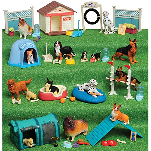 Dog Playset - Constructive Playthings Dog Academy 51 pc. Playset