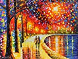 In Spirit by the Lake Leonid Afremov depicts a young couple that is strolling in the park. You can hardly find a more romantic place than this one: the unique combination of natural and man-made beauty allows you to imagine yourself on a half-way to ...
