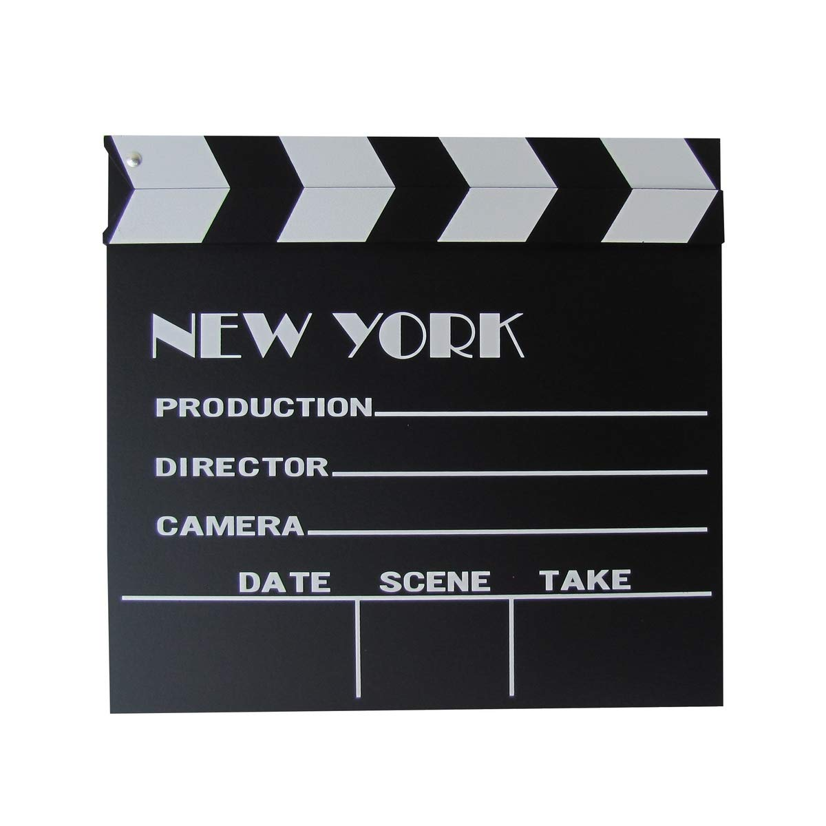 New York, NY Movie Studio Set Action Clapboard Film Recording Clapper Board Prop