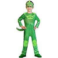 amscan PJMASQUES Costume Pj Mask Gekko (5-6 Anni),, 5, 7AM9902957