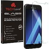 TECHGEAR® Samsung Galaxy A3 2017 (SM-A320 Series) GLASS Edition Genuine Tempered Glass Screen Protector Guard Cover