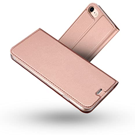 coque iphone 8 clapet rose
