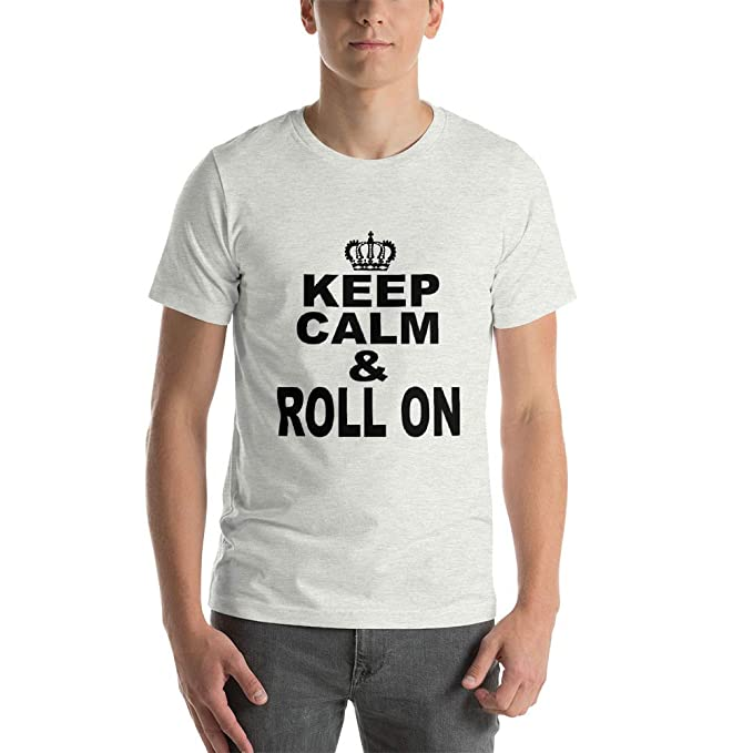 710c2c5c955 Unisex T-Shirts with Cool Sayings for Teen Girls and Boys - Keep Calm    Roll On at Amazon Men s Clothing store