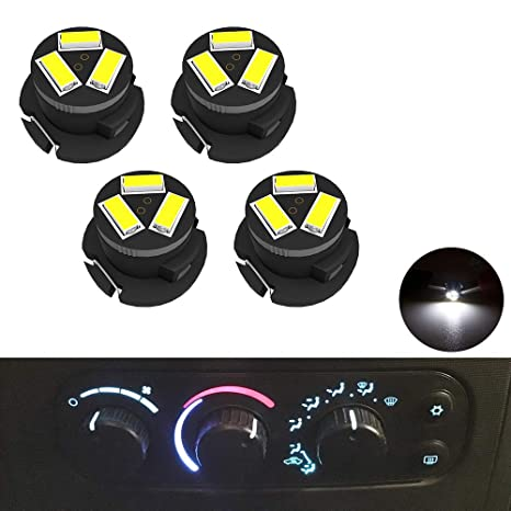SMD AC Climate Heater Control LED Light Bulbs Kit Replacement for Dodge Ram  1500 2500 3500 2003-2008 T5/T4 7 Neo Wedge HVAC White Lights