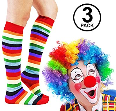 Funny Party Hats Clown Costume Adult - 3 Pc, Set - Clown Wig and Costume Accessory - Clown Costume accessories by