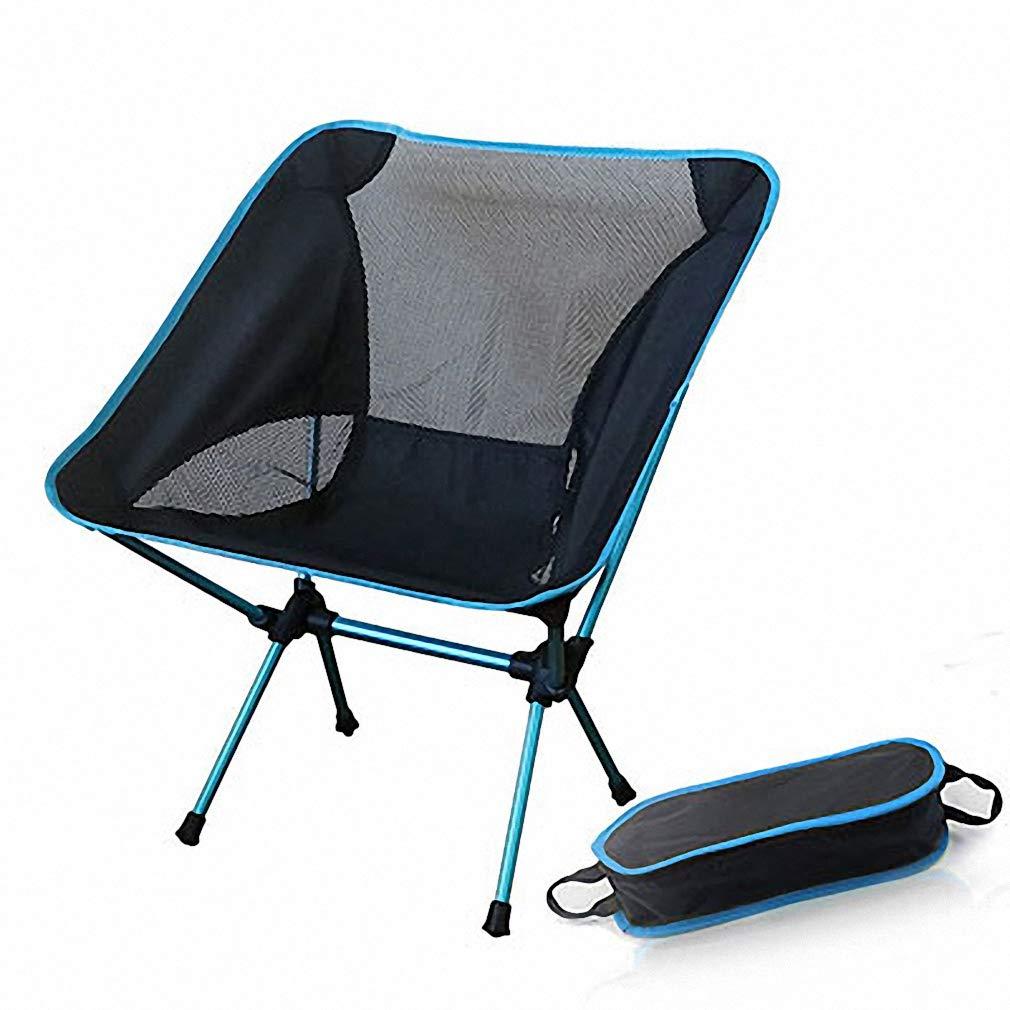 Tebapi ポータブル折りたたみ式ムーンチェア 釣り キャンプ バーベキュースツール 折りたたみ 拡張 ハイキングシート ガーデン 超軽量 オフィス 家庭用家具  SF73300SB B07K4VHXG1