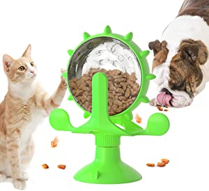 Rotating Windmill Cat Toys for Indoor Cats, Interactive Cat Puzzle Toy, Cat Food Dispenser Toy for Kitten/Puppy