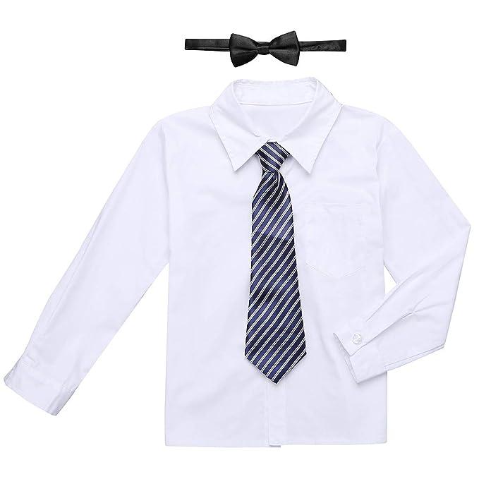 Iefiel De Uniforme Escolar Camisa Infantil Disfraces 3pcs Blanca rwrgF4