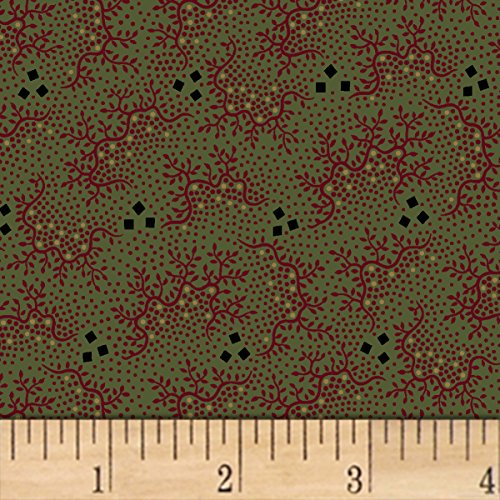 Marcus Brothers 0559023 Pam Buda Pieceful Pines Green Fabric by The Yard, ()