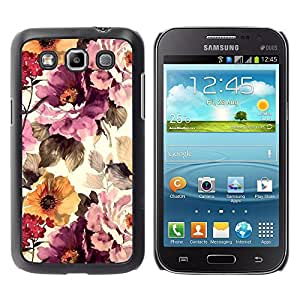 For Samsung Galaxy Win / I8550 / I8552 / Grand Quattro Case , Vintage Vignette Sunshine - Diseño Patrón Teléfono Caso Cubierta Case Bumper Duro Protección Case Cover Funda