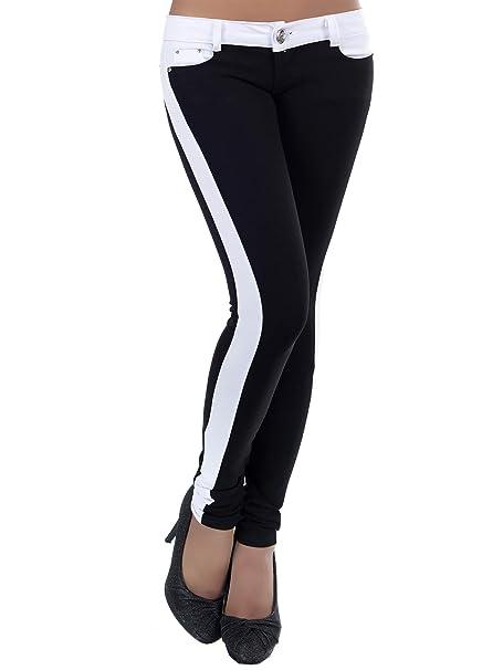 Damen Stretch Stoffhose High Waist Skinny Slim Jeggings Treggings Röhrenhose Kleidung & Accessoires