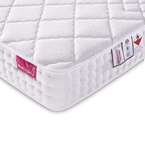designer fashion 74446 91ebe DOSLEEPS Double Mattress 4FT6 9-Zone Pocket Sprung Mattress with Memory  Foam and Tencel Fabric - Orthopaedic Mattress - Thickness: 8.7 Inch, White
