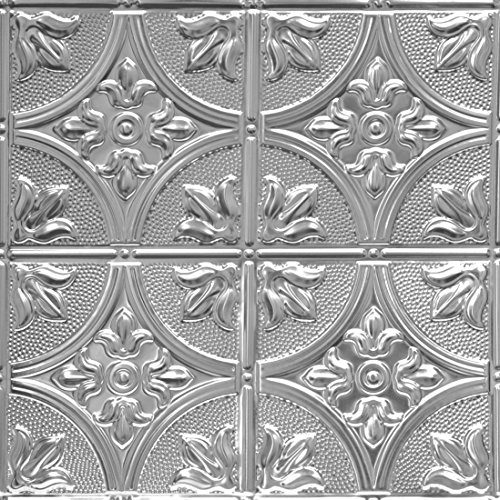 Metal Wall Accent Tile (Shanko LS309DA Pattern 309 Authentic Pressed Metal Wall and Ceiling Tiles, 20 sq. ft., Lacquered Steel)