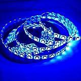 Lighten Glimmer 5M SMD 5050 Flexible Strip Light Blue Color 300 LEDs 60led/m Waterproof IP65 DC 12V Black PCB