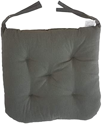 """Dining Blue Ergonomic Pillows for Rocking Camping Cottone 100/% Cotton Chair Pads w//Ties Kitchen Chairs /& More   16/"""" x 15/"""" Square Round Extra-Comfortable /& Soft Seat Cushions Set of 4 Patio"""