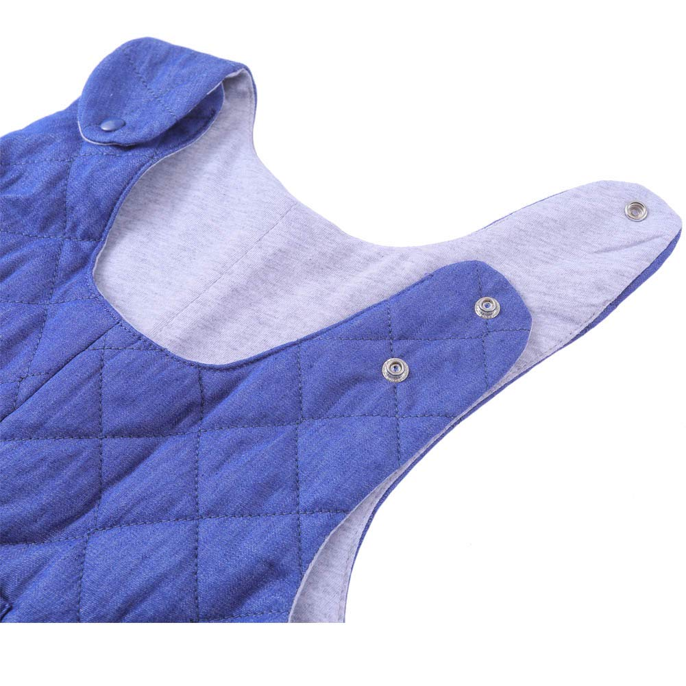 Little Kids Adjustable Denim Overall Winter Puffer Quilted Bib Pants Not Waterproof