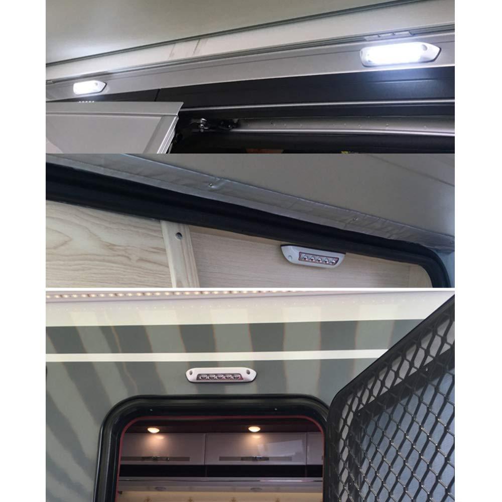 Festnight 12V RV LED Auvent Porche Lumi/ère /Étanche Motorhome Caravane Int/érieur Mur Lampes Light Bar RV Van Camper