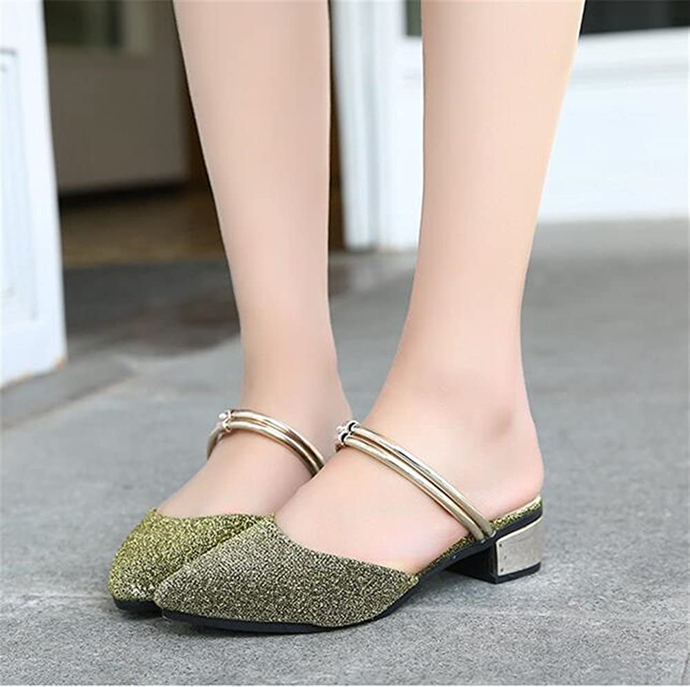 Womens Pointy Toe High Heel Mules Slip On Clogs Slide Sandals Shoes COLOV