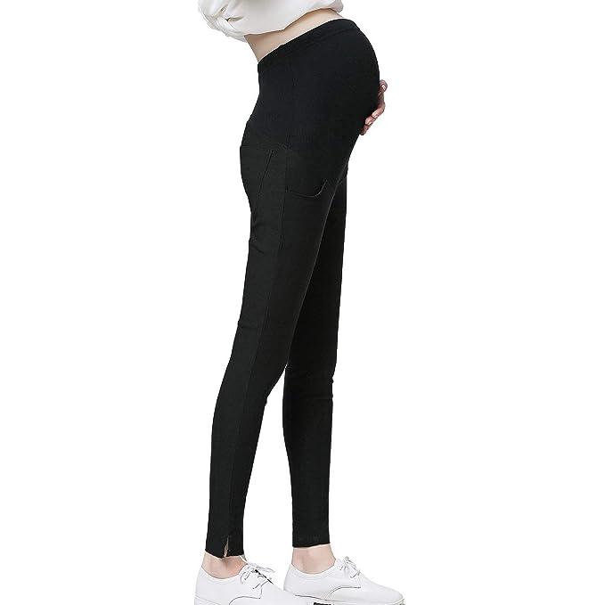 299561239df43 Funfreeyer Maternity Pants Pregnancy Stretchy Career Wear Pregnancy Dress  Pants Cotton (X-Large)