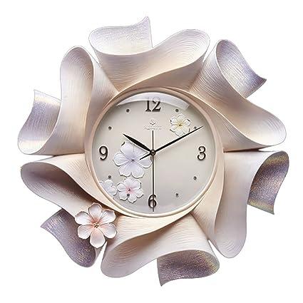 Reloj De Pared Tridimensional Home Mute Relojes De Resina Hechos A Mano Originales -18 Pulgadas