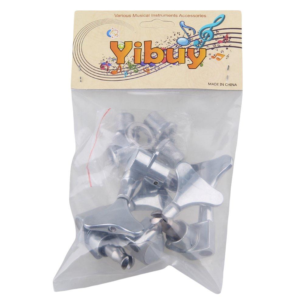 Yibuy Chrome 2R2L Guitar Bass Tuning Keys Pegs Set Tuners Machine Heads Set of 4 etfshop Yibuy245