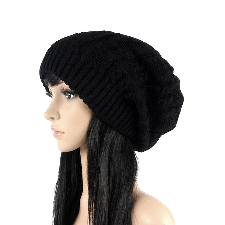 Kize2016 Fashion Caps Warm Autumn Winter Knitted Hats For Women Stripes Skullies