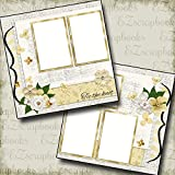 WEDDING - ONE - Premade Scrapbook Pages - EZ Layout 657