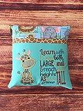 Giraffe Pillow, Animal Print Nursery Giraffe, Giraffe Baby Shower Gift, Giraffe Pillow for Toddler Room, Safari Nursery Decor, Giraffe Decor, Pillow Insert NOT Included