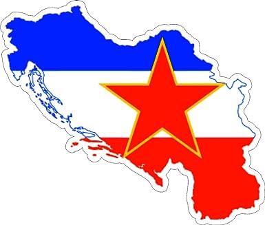 Jugoslawien Karte.Selbstklebend Wandtattoo Sticker Auto Vinyl Flagge Karte