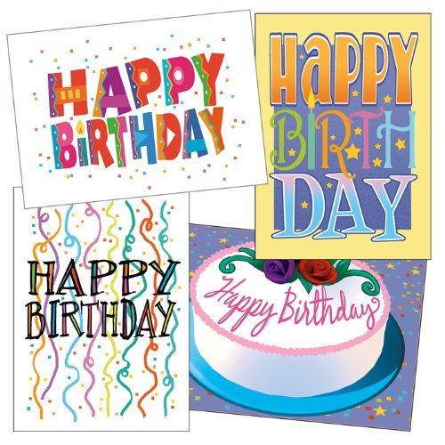 Amazon.com: Birthday Card Assorted Pack - Boxed Set of 36 Cards ...