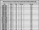 """Nonwe Ladies' Outdoor Quick Dry Running Cargo Pants Khaki L/30.5"""" Inseam"""