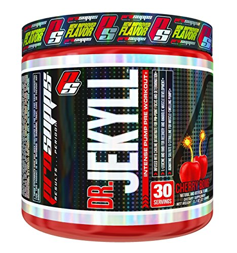 ProSupps Dr Jekyll Intense Pump Pre Workout Pikatropin Free Formula, Cherry Bomb, 11.2 Ounce (Dr Jekyll And Mr Hyde Pre Workout Stack)