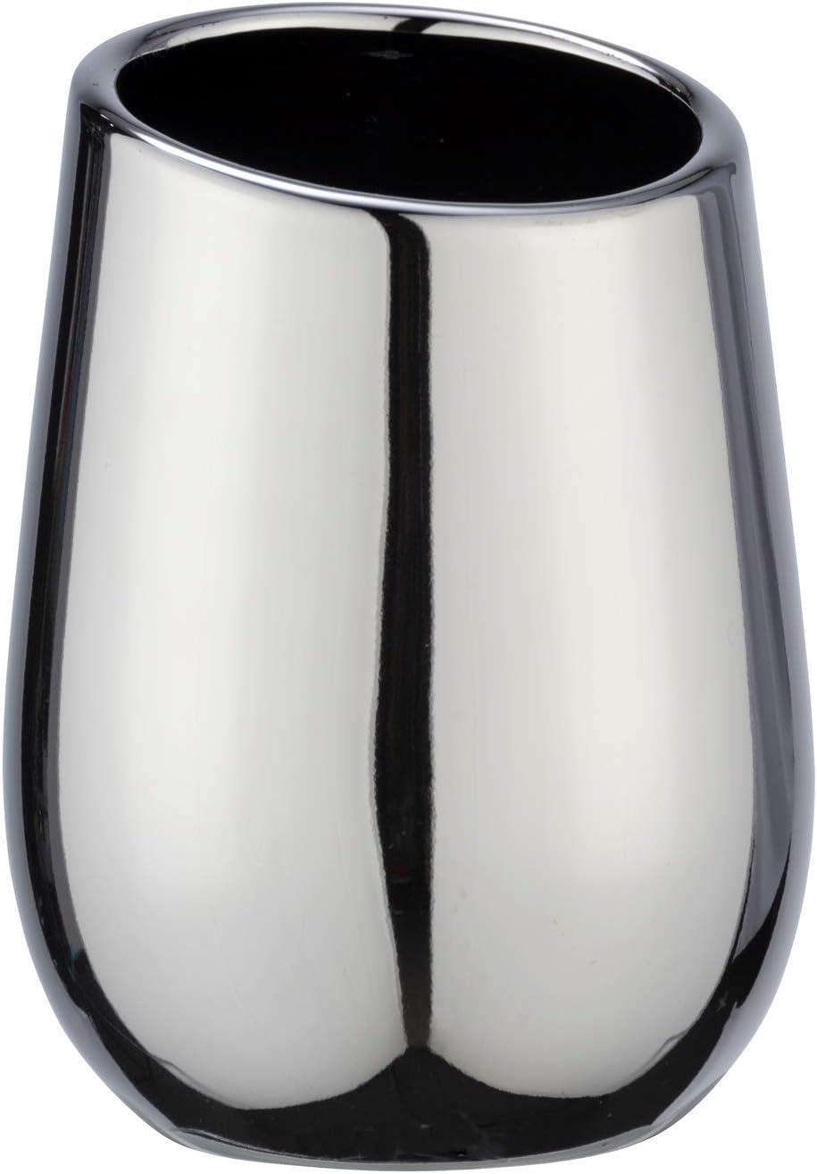 8 x 11 x 8 cm Color Blanco cer/ámica Wenko 23643100-Vaso de Dientes Badi