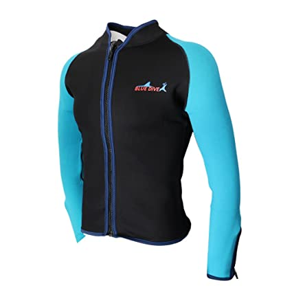 aa89038abf7 MagiDeal 2mm Neoprene Men Long Sleeved Diving Wetsuit Swimwear Scuba Dive  Jacket Wet Suit Top Winter