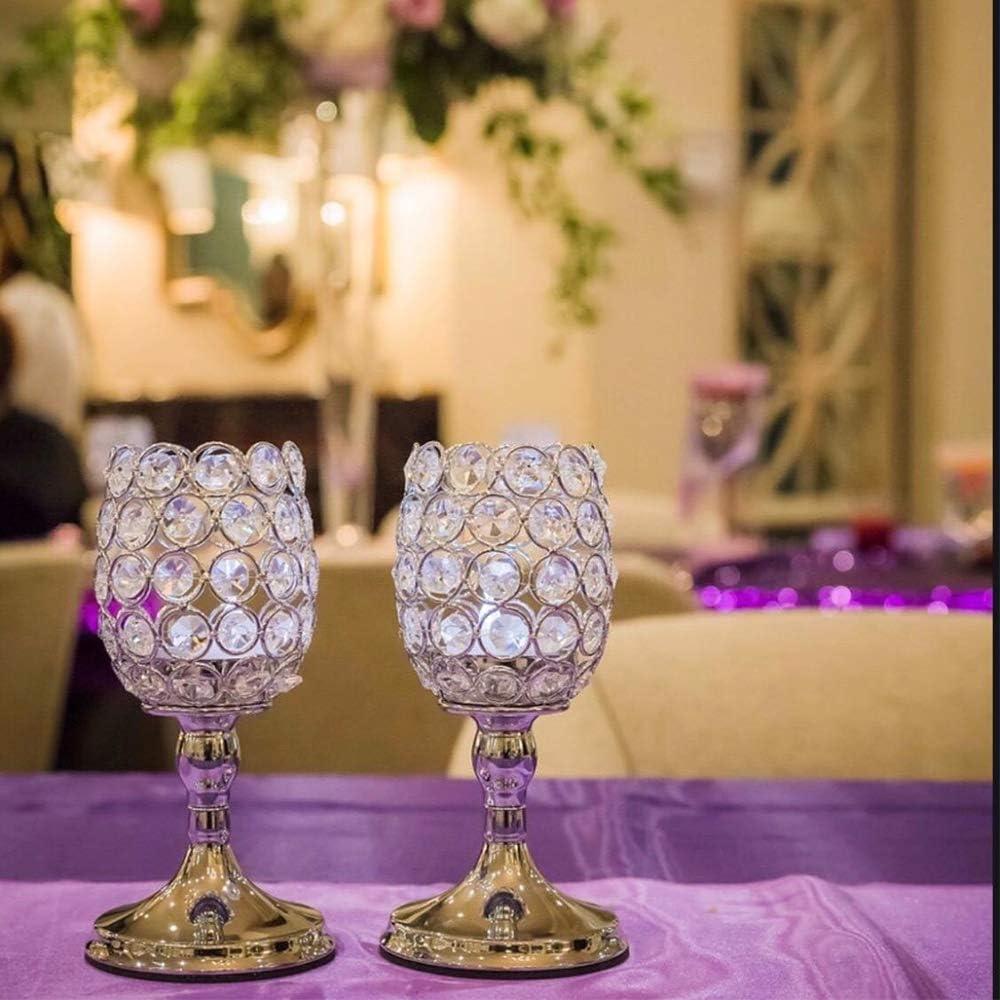 VINCIGANT Bougeoir en Cristal dor/é fix/é pour Les Mariages Cadeau danniversaire,20cm/&20cm Centre de Table