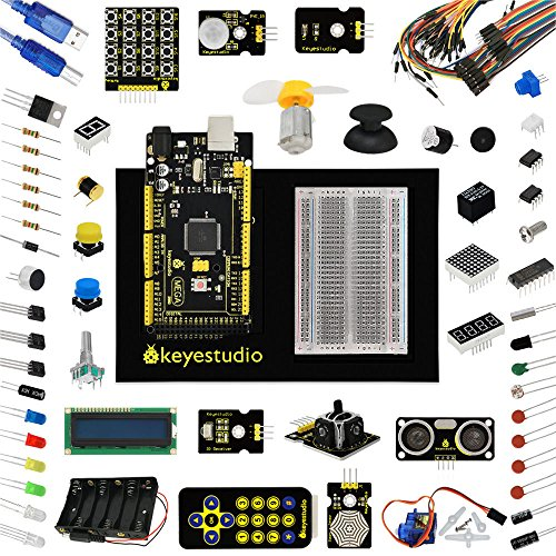 Mega2560 Starter Kit for Arduino 1602LCD Servo LED Relay Motor Encoder+PDF by Aigh Auality shop