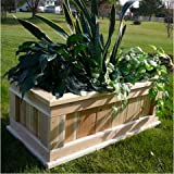 Infinite Premium Quality Rectangular Cedar Planter