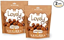 GINGERBREAD Caramels (2-Pack)- Lovely Co. 6 oz. Bag - Holiday Seasonal Flavor   Soft & Chewy, Old Fashioned Style, Authentic Caramel Candies - Non-GMO, Soy & HFCS- Free, Gluten-Free & Kosher!