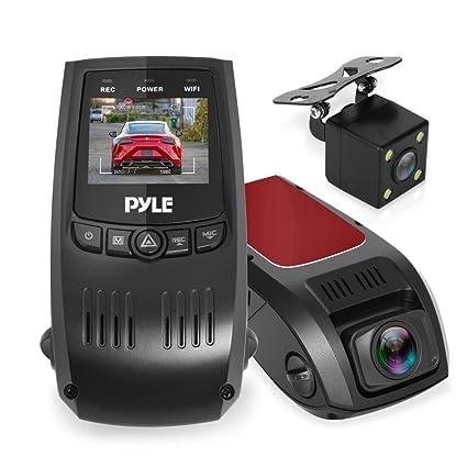 "Dash Cam Rearview DVR Monitor - 1 5"" Digital Screen Rear View Dual Camera  Video Recording System in Full HD 1080p w/ Built in G-Sensor Parking  Monitor"
