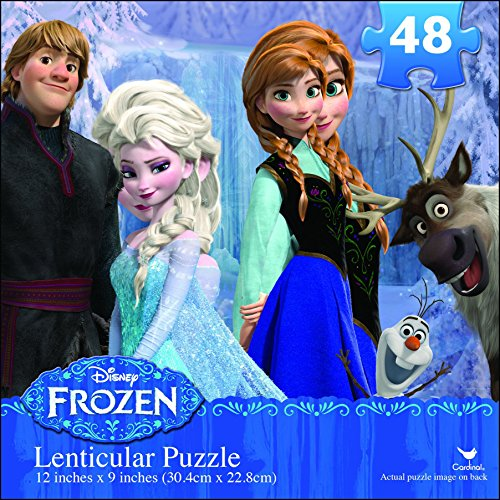 Disney Frozen Lenticular Puzzle (48-Piece) Styles Will Vary ()