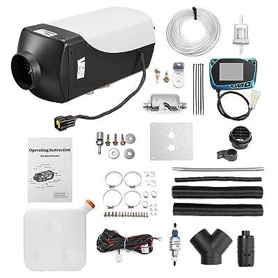 8kw / 12v LCD Simple con silenciador a Control Remoto Calentador de Aire Diesel Muti-Color Accesorios Esenciales -Blanco y Negro: Juguetes y juegos