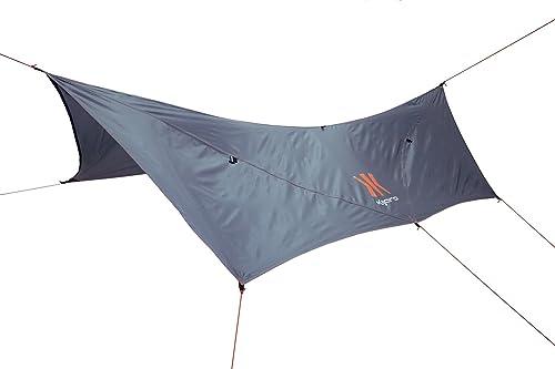 Kijaro Outdoor Waterproof Portable Tarp, Versatile Camping Backpacking Tarp Rain Shelter, Tlou African Gray
