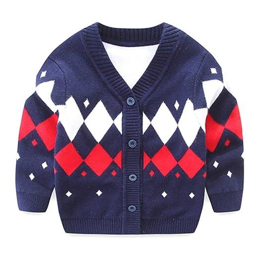 Amazoncom Iridescentlife Baby Boys Sweater Cardigan Knitted