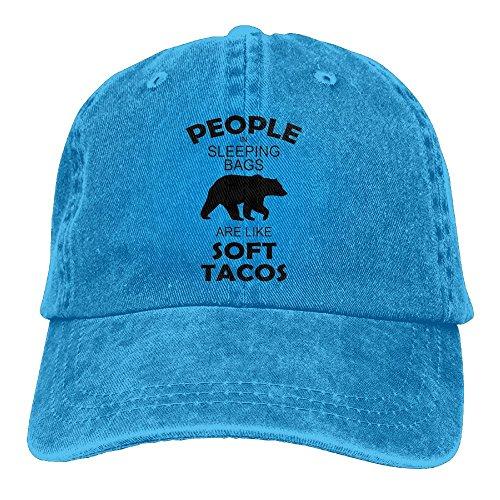 Unisex People In Sleeping Bags Rock Climbing Cap People In Sleeping Bags Cool Hats 2018 New Adult Cowboy Hat Royalblue