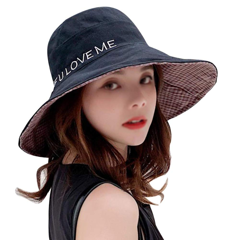 Btbtoc Women Sweet Fashion Letter Printed All-Match Solid Color Personality Casual Sun Hat